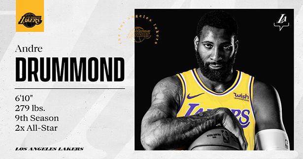 I Lakers firmano ufficialmente il centro Andre Drummond